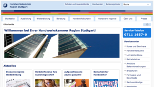 Screenshot Homepage HWK